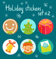Holiday stickers set 2 vector image