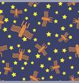 spaceship seamless pattern spacecraft background vector image