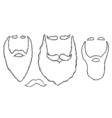 Stylish Santa beards vector image