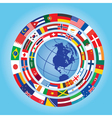 flags around globe vector image