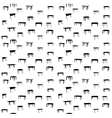 Seamless pattern of table isolated seammles vector image vector image