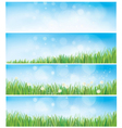 spring backgrounds vector image vector image