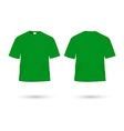 t shirt green vector image
