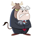 angry business bull vector image