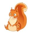 Cartoon orange Squirrel vector image