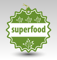 green superfood stamp tag label vector image