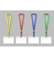 Badge template name bag holder with lanyard set vector image