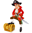 Cartoon pirate vector image