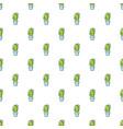 coryphantha cactus pattern seamless vector image