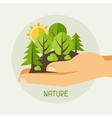 Ecology protection concept vector image