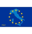 Flag of European Union with Italy on background vector image