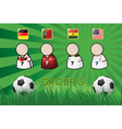 football Player and Flags for championship 2014 vector image