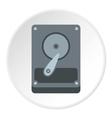 Hard drive data icon flat style vector image