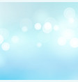 light blue background water summer bokeh vector image