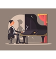 Pianist performs at concert vector image
