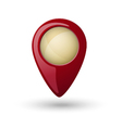 Red plastic map location sign marker vector image