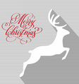 merry christmas and happy new year reindeer vector image