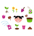 garden spring  nature icons vector image vector image