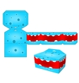 Paper cube for children games and decoration vector image