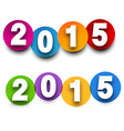 2015 paper sign vector image