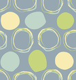 Circles Seamless pattern retro pattern of ovals vector image