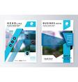 Annual report brochure Business plan flyer design vector image