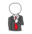 businessman with circle on his head vector image