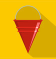 fire bucket icon flat style vector image