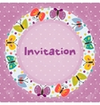 greeeting card vector image