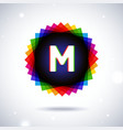 Spectrum logo icon Letter M vector image