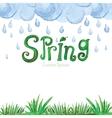 Watercolor Spring BackgroundGreen grassword vector image