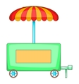 Hot dog trailer icon cartoon style vector image