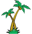 Palm tree tropical vector image