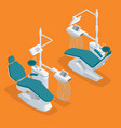 isometric modern dentist chair isolated equipment vector image
