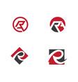 r letter logo template vector image