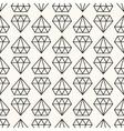 seamless retro pattern with diamonds vector image