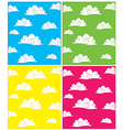 Set of cloud backgrounds vector image vector image