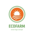 eco farm icon vector image