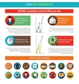 Crm Infographics Set vector image