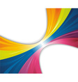 rainbow wave banner vector image