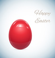 Red Easter Egg Isolated on White vector image