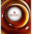 abstract orange swirl background vector image vector image
