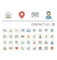 Contact us and Communication color icons vector image