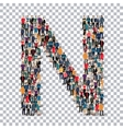 People letter alphabet 3d vector image