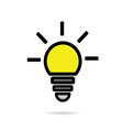 lightbulb icon yellow vector image
