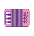 accordion musical instrument icon vector image