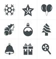 Christmas Icons Set Design vector image