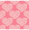 cute vintage pink heart pattern vector image