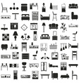 furniture black icons on white vector image