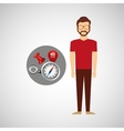 hipster man collection navigation elements concept vector image